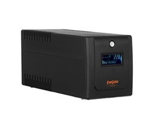 Exegate EP285581RUS ExeGate SpecialPro Smart LLB-650.LCD.AVR.EURO.RJ.USB <650VA/360W, LCD, AVR, 2 евророзетки, RJ45/11, USB, Black>
