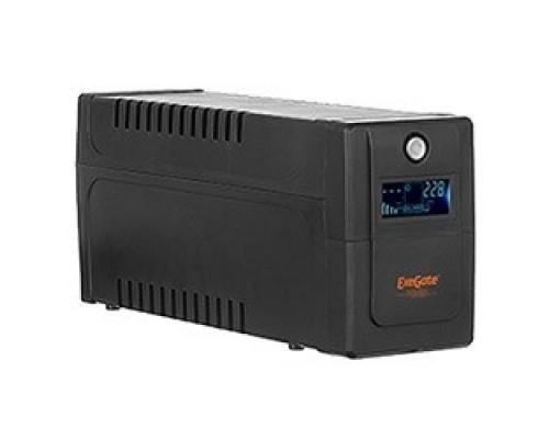Exegate EP285568RUS ExeGate Power Smart ULB-650.LCD.AVR.EURO <650VA/360W, LCD, AVR, 2 евророзетки, Black>