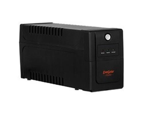 Exegate EP285474RUS ExeGate Power Back BNB-850.LED.AVR.EURO.RJ.USB <850VA/480W, LED, AVR,2 евророзетки, RJ45/11, USB, Black>