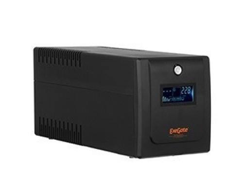 Exegate EP285531RUS ExeGate SpecialPro Smart LLB-2200.LCD.AVR.EURO.RJ.USB <2200VA/1300W, LCD, AVR, 4 евророзетки, RJ45/11, USB, Black>