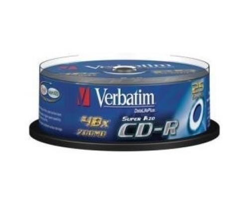 Verbatim и CD-R Verbatim 52-x 700Mb, Cristal AZO, Cake Box 25 шт. (43352)
