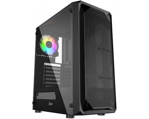 Powercase CMIZB-L1 Mistral Z1 Mesh LED, Tempered Glass, 1x 120mm 5-color fan, чёрный, ATX (CMIZB-L1)