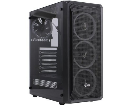 Powercase CMIZB-L4 Mistral Z4 Mesh LED, Tempered Glass, 4x 120mm 5-color fan, чёрный, ATX (CMIZB-L4)