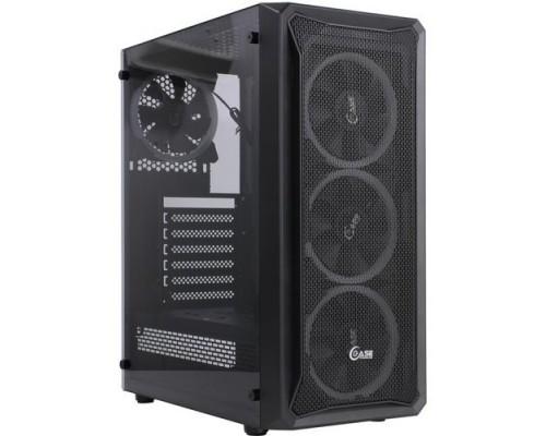 Powercase CMIZB-L4 Mistral Z4 Mesh LED, Tempered Glass, 4x 120mm 5-color fan, чёрный, ATX (CMIZB-L4)