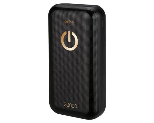 Perfeo Powerbank 30000 mah+Micro usb/In Micro usb, Type-C/Out Type-C 2.1A, USB 1 А, 2.1A/ Black (PF_B4300)