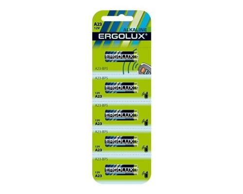 Ergolux LR23A BL-5 (A23-BP5, батарейка,12В) (5 шт. в уп-ке)