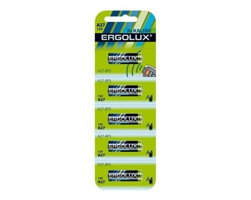 Ergolux LR27A BL-5 (A27-BP5, батарейка,12В) (5 шт. в уп-ке)
