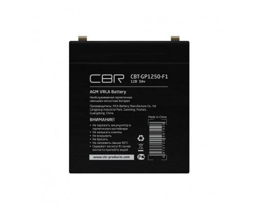 CBR Аккумуляторная VRLA батарея CBT-GP1250-F1 (12В 5Ач), клеммы F1