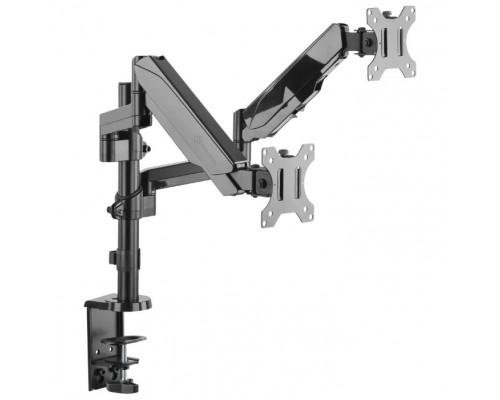 ONKRON G140 чёрный Для двух экранов диагональю 13-32 Допустимая нагрузка: 2х (1-8 кг (2.2 - 17.6 lbs)) VESA: 100x100, 75x75