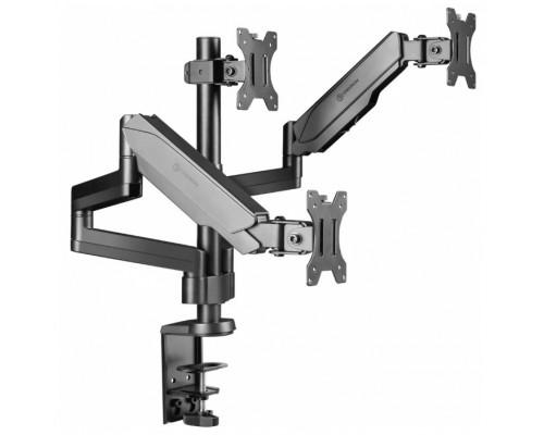 ONKRON G280 чёрный Для трех экранов с диагональю 13-32 Допустимая нагрузка: 3 x (1-8 кг) VESA: 75x75, 100x100 мм