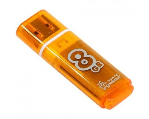 Smartbuy USB Drive 8Gb Glossy series Orange SB8GBGS-Or