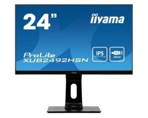 IIYAMA 23.8 XUB2492HSN-B1 IPS 1920х1080 250cd 178/178 1000:1 80M:1 16.7M 4ms D-Sub HDMI DisplayPort USB-Hub