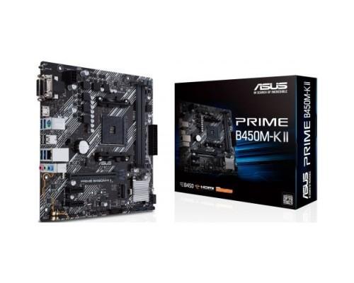 Asus PRIME B450M-K II Soc-AM4 AMD B450 2xDDR4 mATX AC`97 8ch(7.1) GbLAN RAID+VGA+DVI+HDMI