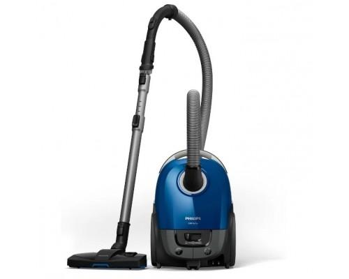 Philips/ Мешковый пылесос, мощность мотора 2000, мощность всасывания 325б насадка TriActive, цвет корпуса- синий