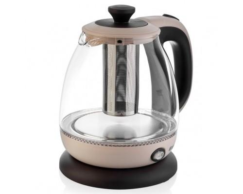 BRAYER 1046BR Чайник электрический ,1100 Вт, 1 л, стеклянный, функция заваривания