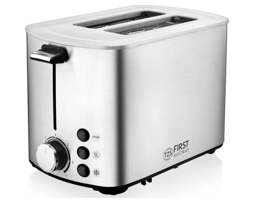 FIRST FA-5367-3 Steel 5367-3 Тостер, 850 Вт, Количество тостов: 2.Ломтик до 4 см, размер до 14х11 см. Стальной