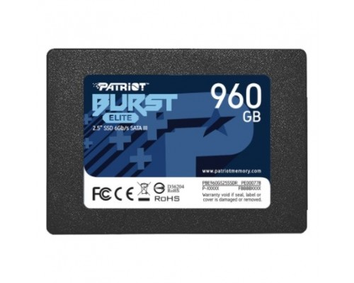 SSD жесткий диск SATA2.5 960GB BURST PBE960GS25SSDR PATRIOT