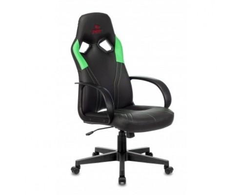 Кресло игровое Бюрократ ZOMBIE RUNNER черный/зеленый искусственная кожа крестовина пластик 1456782