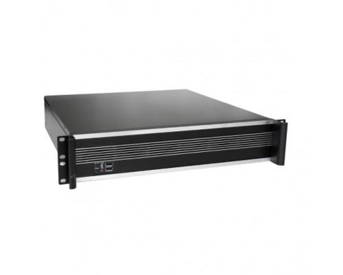Exegate EX284958RUS Серверный корпус ExeGate Pro 2U450-09 <RM 19, высота 2U, глубина 450, без БП, 2*USB>