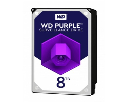 8TB WD Purple (WD82PURX) Serial ATA III, 7200- rpm, 256Mb, 3.5
