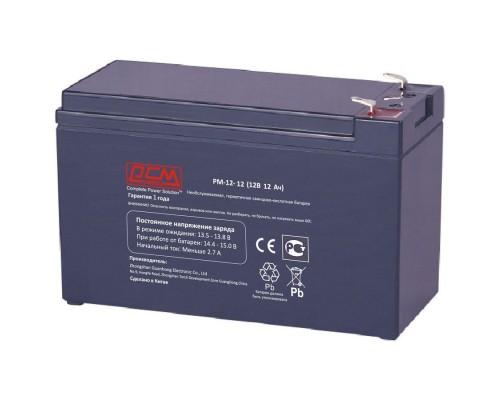 Powercom Аккумуляторная батарея PM-12-12 12В/12Ач