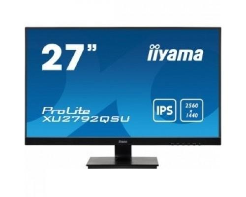 Iiyama 27 XU2792QSU-B1 IPS 2560х1440 350cd 178/178 1000:1 5ms D-Sub DVI HDMI DisplayPort USB-Hub