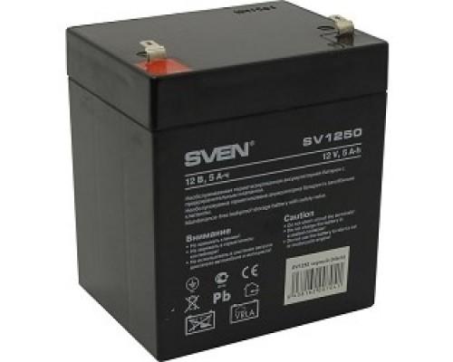 Sven SV1250 (12V 5Ah) батарея аккумуляторная