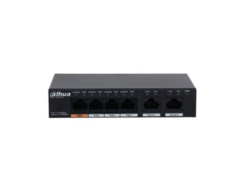 DAHUA DH-PFS3006-4GT-60 4-портовый неуправляемый коммутатор с РоЕ