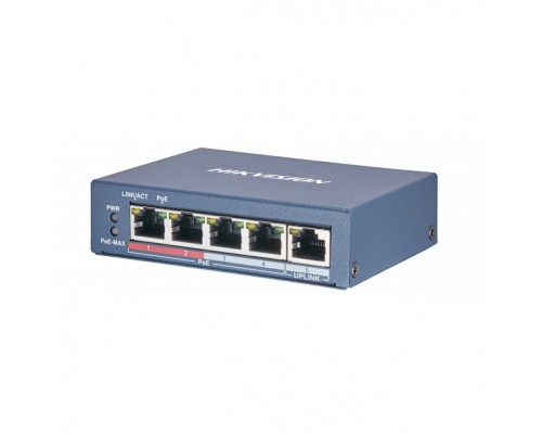 HIKVISION DS-3E0505P-E/M 4 RJ45 1000M PoE с грозозащитой 6кВ