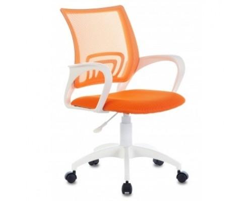 Кресло Бюрократ CH-W695NLT оранжевый TW-38-3 TW-96-1 сетка/ткань крестовина пластик пластик белый (1483035)