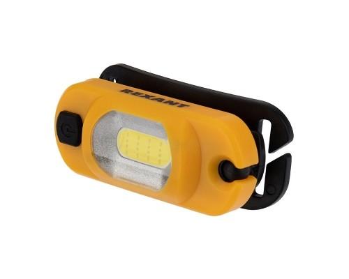 Rexant 75-700 Налобный фонарь поворотный на шарнире 100%, 50%, красный свет, пульсирующий красный; встроенный аккумулятор, (USB кабель в комплекте)