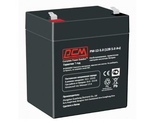 Powercom Аккумуляторная батарея PM-12-5.0 12В/5Ач