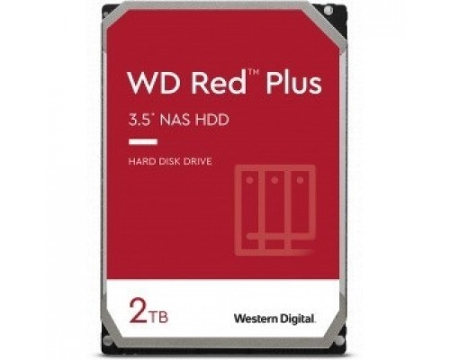 2TB WD NAS Red Plus (WD20EFZX) Serial ATA III, 5400- rpm, 256Mb, 3.5