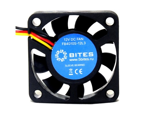 5bites Вентилятор FB4010S-12L3 40X10 / SLEEVE / 5000RPM / 3P