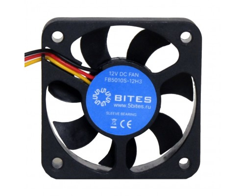 5bites Вентилятор FB5010S-12H3 50X10 / SLEEVE / 5500RPM / 3P