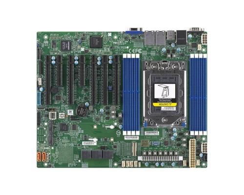 Supermicro MBD-H12SSL-i-B ATX, 8 DIMM slots, 8 SATA3, 2 M.2, 8 SATA3 or 2 NVMe via single SlimSAS x8, 2 Gigabit Ethernet LAN Ports, ASPEED AST2500 BMC graphics, 7 PWM 4-pin Fans OEM