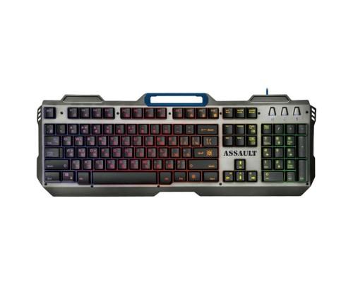 Гарнизон Клавиатура игровая GK-350L, USB, черный, RGB-подсветка и подставка под запястья, 104 клавиши, кабель 1.5 м