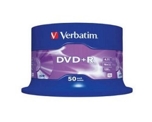 Verbatim и DVD+R 4.7Gb 16-х , 50 шт, Cake Box (43550)