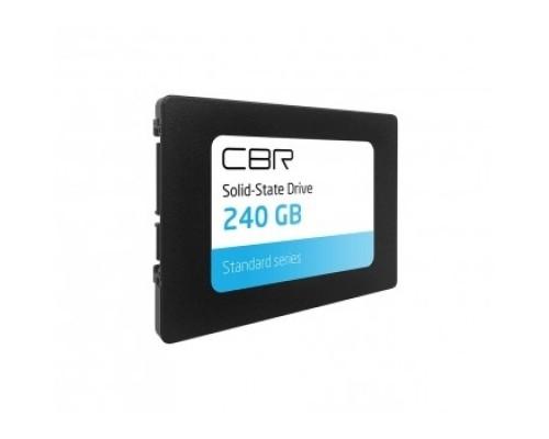 CBR Внутренний SSD- SSD-240GB-2.5-ST21, серия Standard, 240 GB, 2.5, SATA III 6 Gbit/s, Phison PS3111-S11, 3D TLC NAND, R/W speed up to 550/490 MB/s, TBW 200 TB