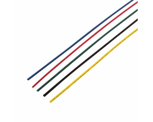REXANT 29-0152 Термоусаживаемые трубки REXANT 3,0/1,5 мм, набор пять цветов, упаковка 50 шт. по 1 м