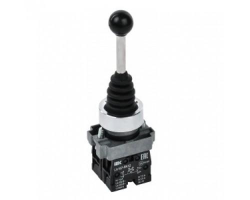 IEK BBJ20-PA12-5-21-2-K02 Джойстик LA167-PA12 2 полож. 2з с фиксацией черный