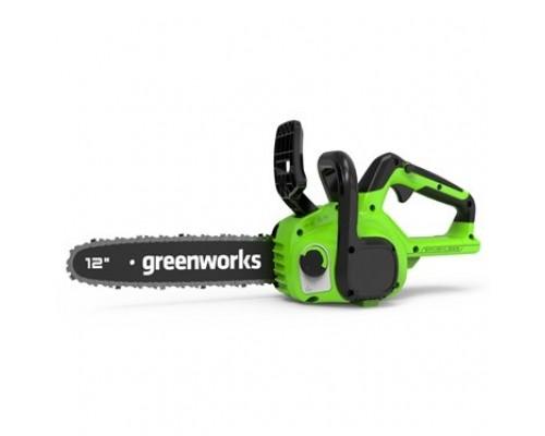Greenworks Цепная пила аккумуляторная GD24CS30, 24V, 30см, бесщеточная, без АКБ и ЗУ 2007007