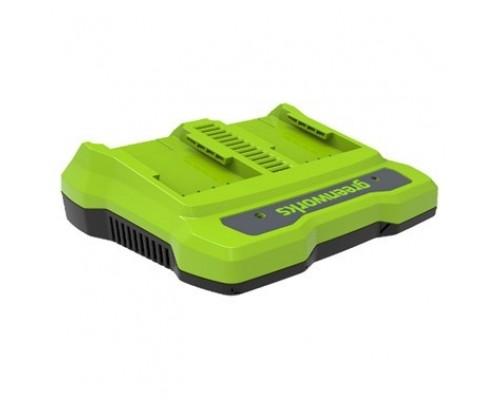 Greenworks Зарядное устройство для 2-х аккумуляторов Greenworks G24X2UC2, 24V 2931907