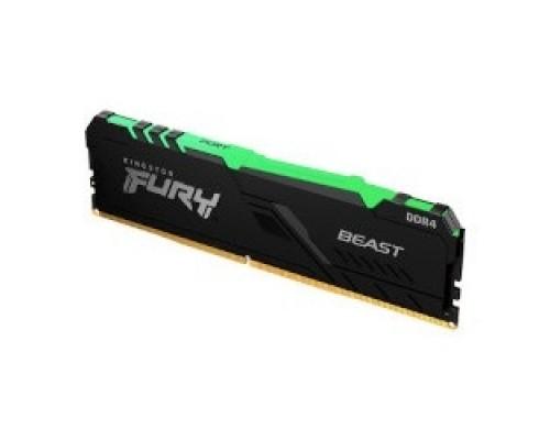 Kingston DDR4 DIMM 8GB KF432C16BBA/8 PC4-25600, 3200MHz, CL16, RGB