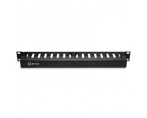 5bites Панель-органайзер кабеля CM-101B ГРЕБЕНКА / КРЫШКА / 1U / 19 / BLACK