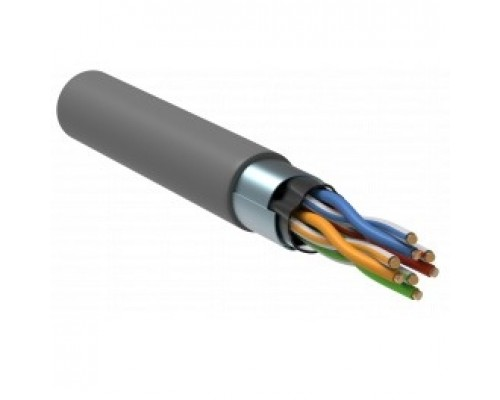 ITK LC1-C5E04-321-R Витая пара F/UTP 5E 4 х 2 х 24 AWG solid LSZH серый (305м) РФ
