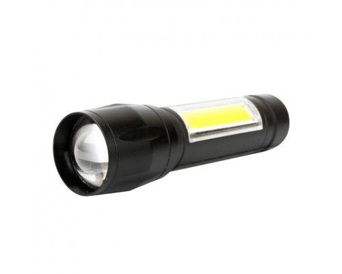 Ultraflash E1337 (фонарь аккум 3,7В, черный, XPE + COB LED, 3 Ватт, 3 реж., бокс)