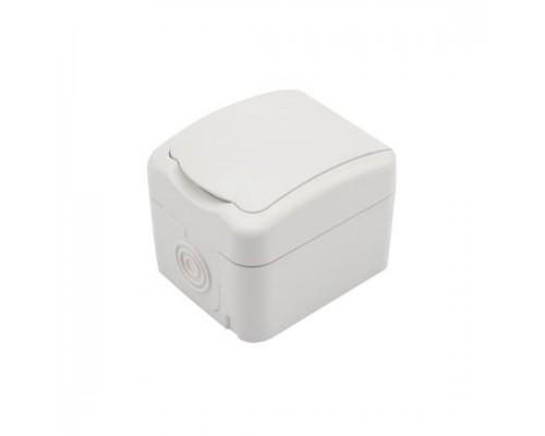 Rexant KR-78-0605 Розетка одноместная KRANZ Mini OG открытой установки с заземлением, керамика, IP54 белая