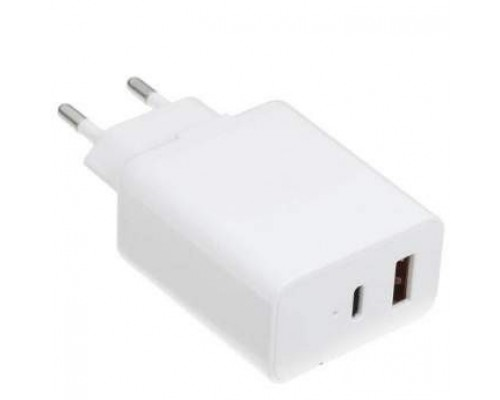 ORIENT PU-C20W, Сетевое зарядное устройство с функцией быстрой зарядки, мощность 20Вт, Quick Charge 3.0+Power Delivery, выходы: USB-A + Type-C, DC 5/9/12/15/20В, цвет белый (31125)