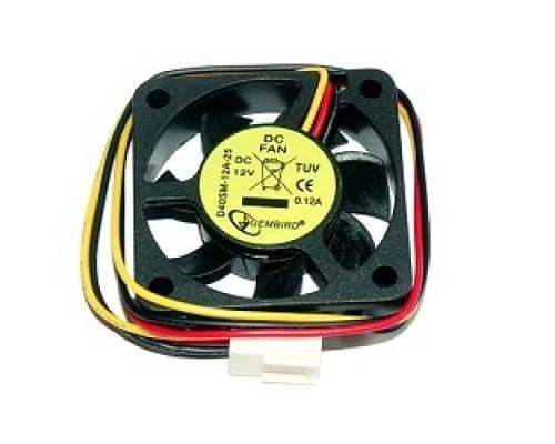 Вентилятор Gembird 40x40x10, шнур 25см, 3pin D40SM-12A-25